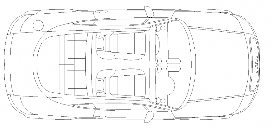 The open car plan with a detail dwg file.