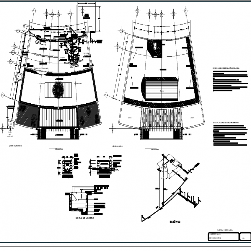 The plan of a cafeteria with detail dwg file.