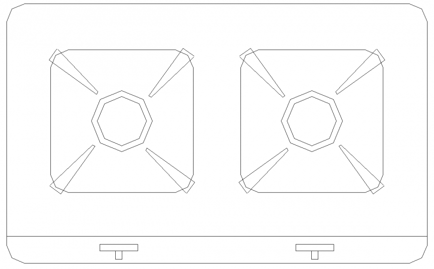 The plan of a stove with detail dwg file.