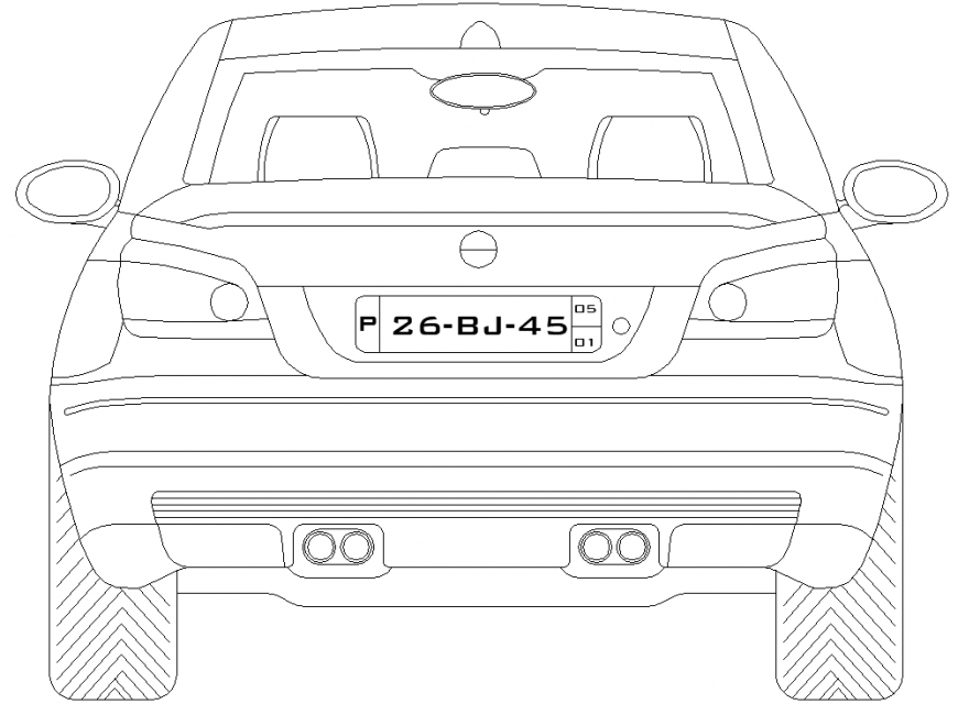 The plan of a vehicles car detailing dwg file.