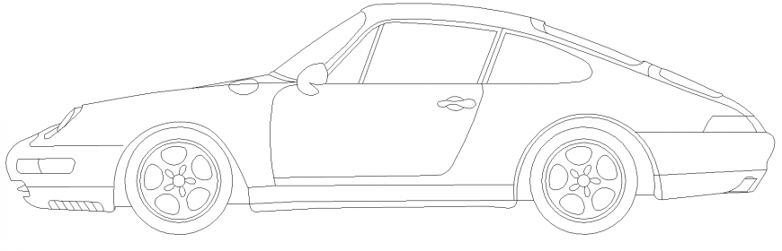 The plan of a vehicles car the detail dwg file.
