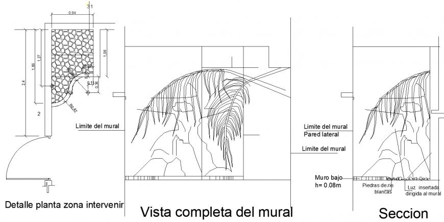 The plantation plant plan detail dwg file.