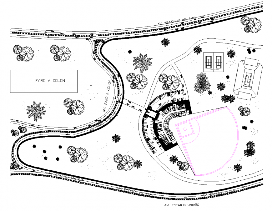 The resort structural plan & a detailed dwg file.