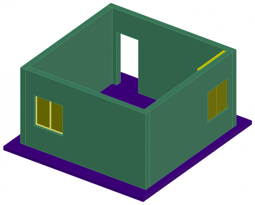 The room structural plan with a detailing & dwg file.