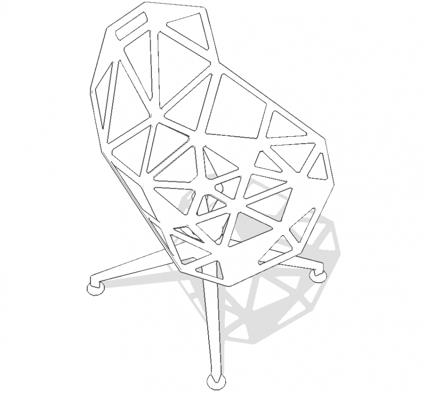 The round chair plan detail dwg file.