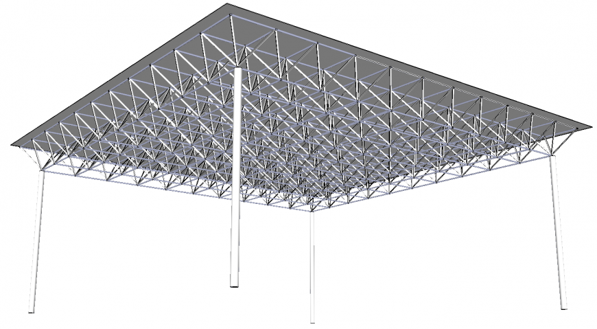 The tent plan detail dwg file.