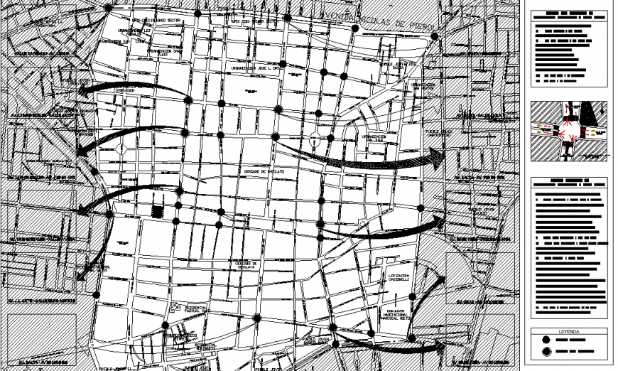 The town-plan detail dwg file.