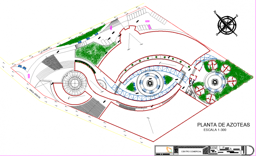 The town plan with a detail  dwg file.