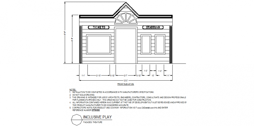 Theater detail elevation autocad file