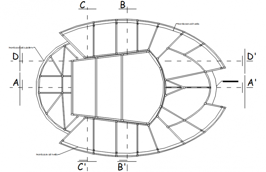 Theater floor framing plan structure drawing details dwg file