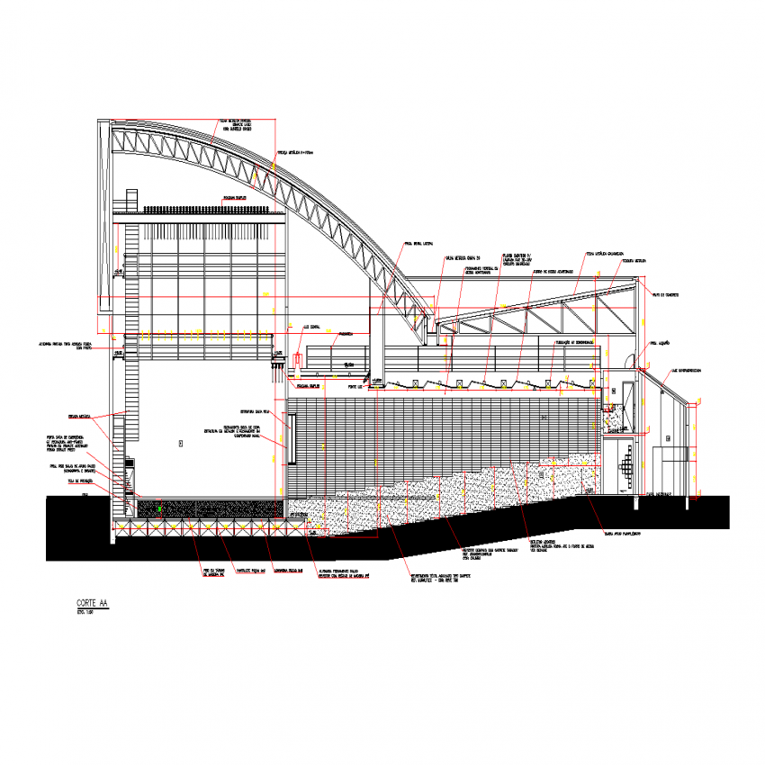 Theater section plan layout file