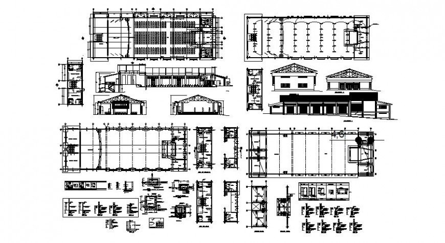 Theatre and auditorium detail plan in dwg file.