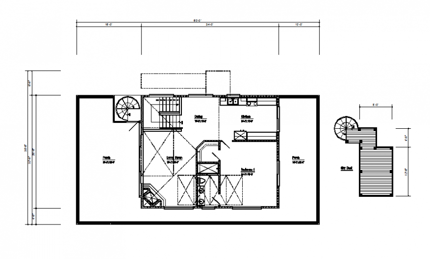 Third floor framing plan details of house cad drawing details dwg file