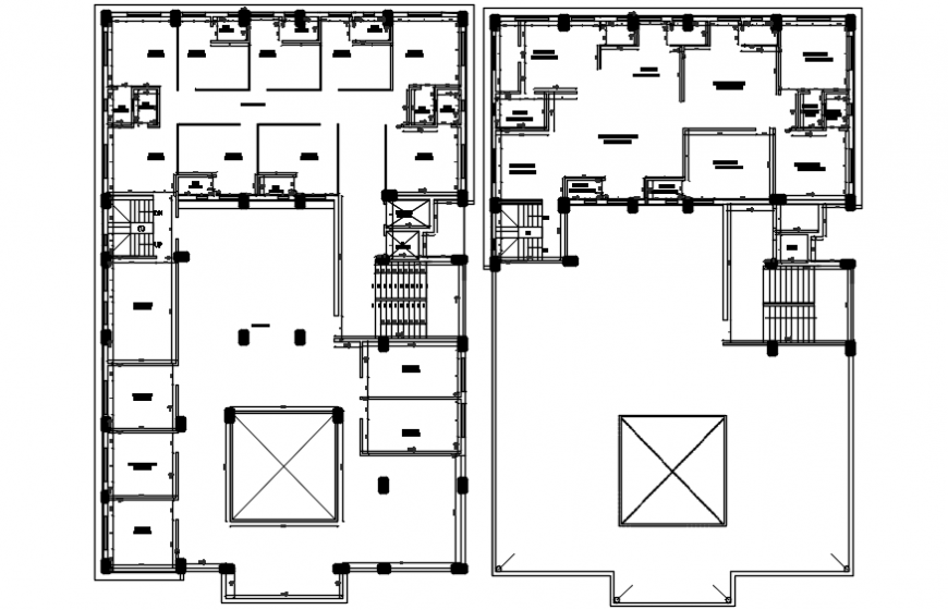 Third floor working layout plan cad drawing details dwg file