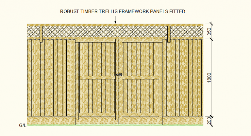 Timber door detail 3d drawing autocad file