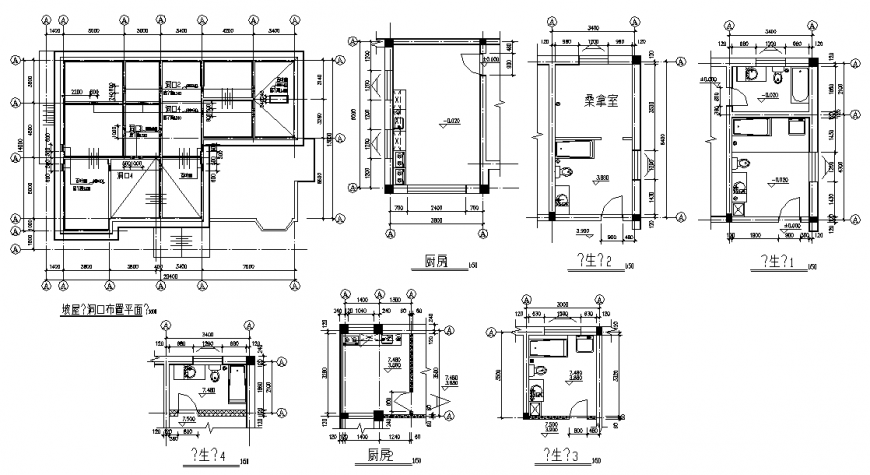 Toilet and house planning autocad file