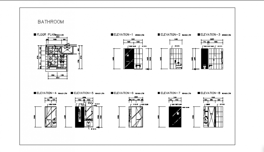 Toilet of Double bed room design of Twin bed room for hotel room project design drawing