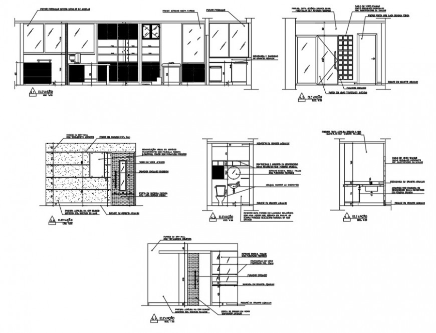 Toilet of hospital installation and furniture drawing details dwg file