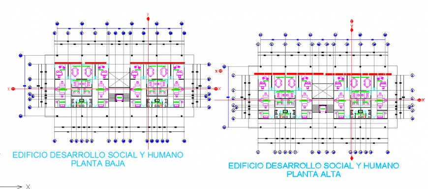 Top Floor Plan Lay-out detail in DWG file