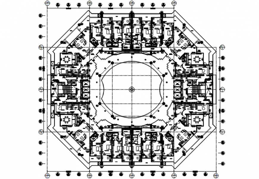 top view 2d plan showing architecture plan
