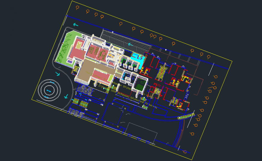 Top view 3d spacing concept of house file