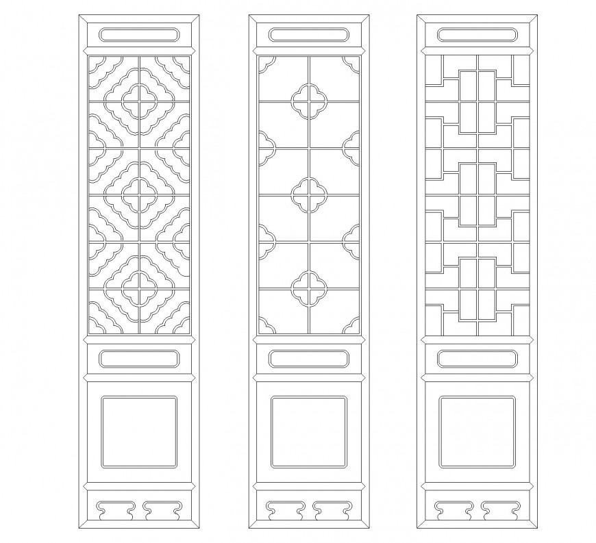 Top view Chinese classical layout file