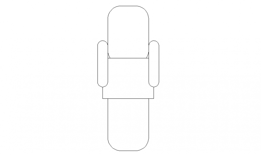 Top view elevation block details of desk chair dwg file