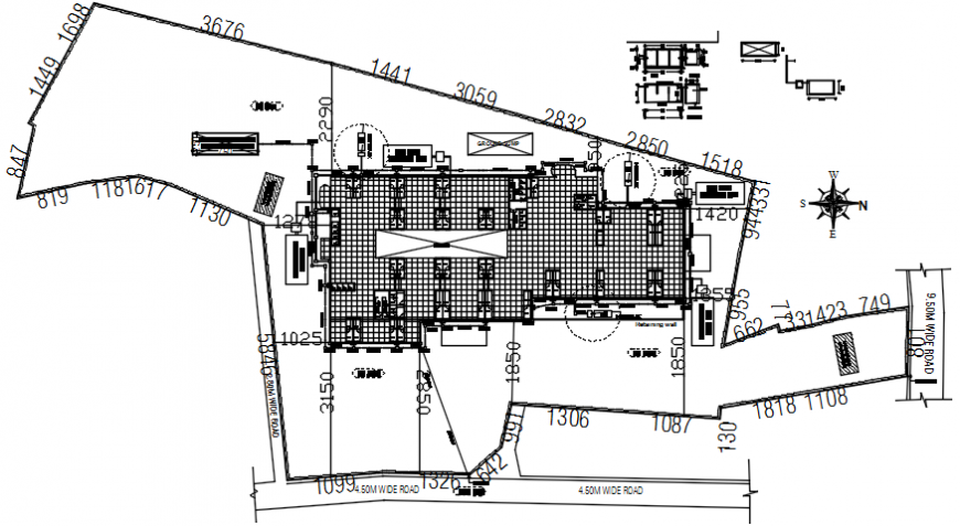 Top view furniture layout plan of hospital dwg file
