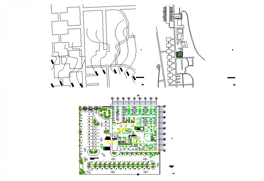 Top view landscaping project file detail