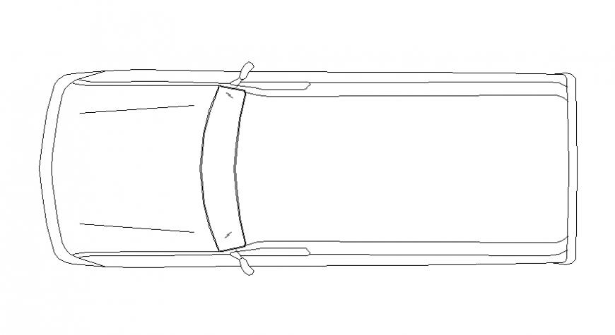 Top view model of car
