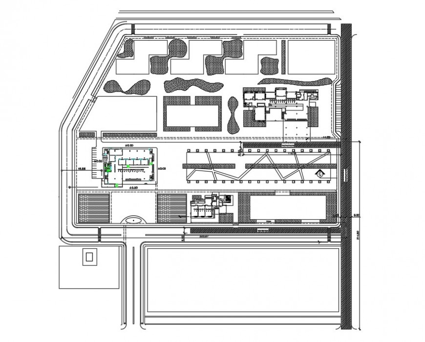 Top view of clubhouse project detail cad file