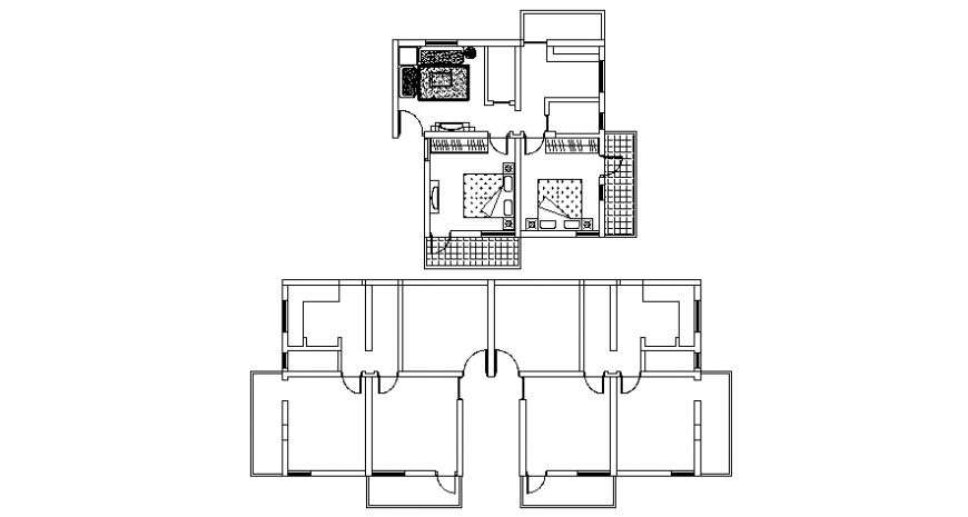 top view plan and space layout