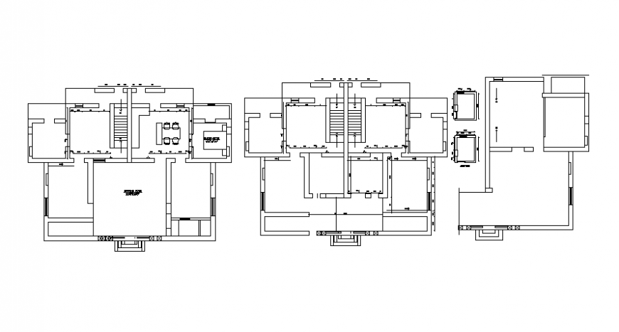 Top view plan spacing of house