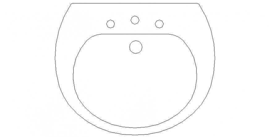 Top view sink plan layout file