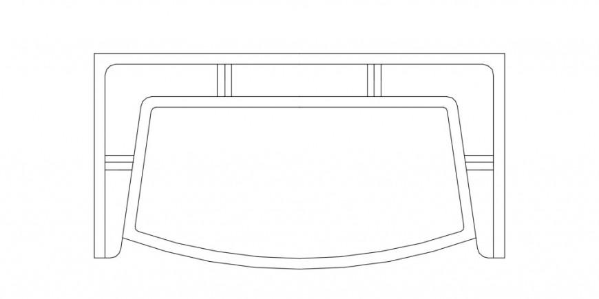 Top view sofa plan detailing dwg file