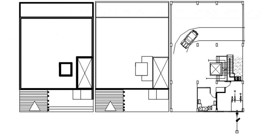 Top view spacing and entrance plan layout