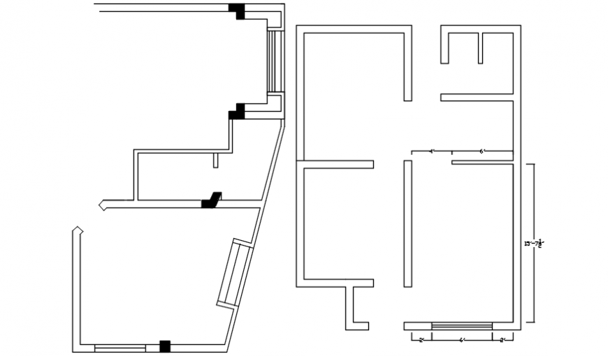 Top view spacing concept of house file