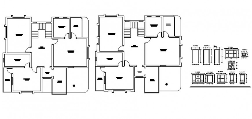 Top view spacing plan of housing project