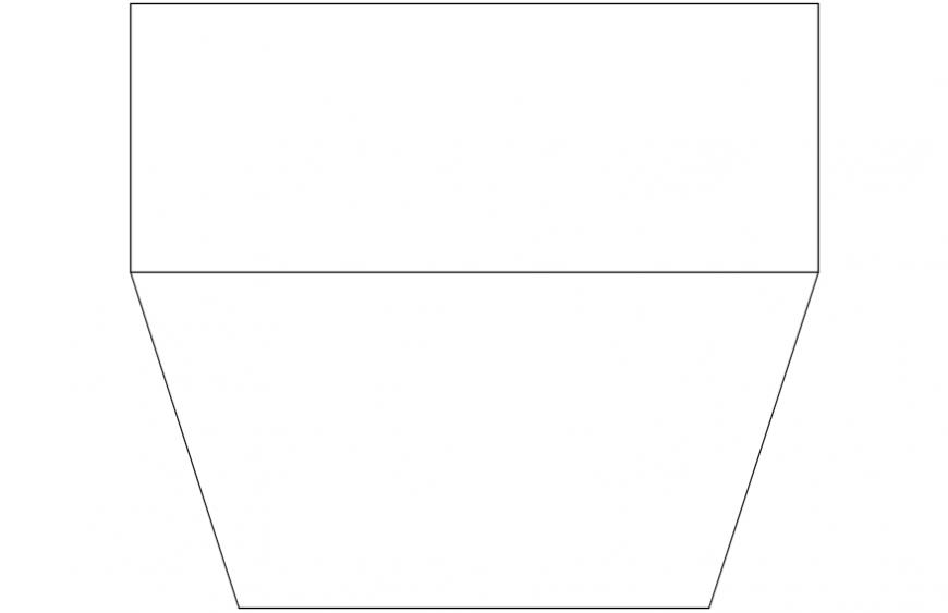 Top view tv concept