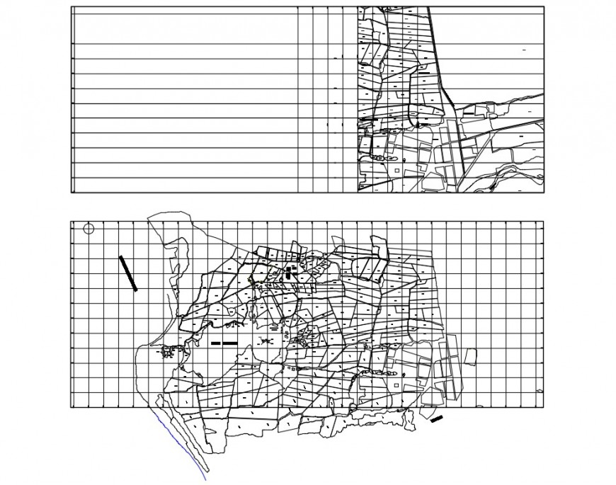 Topographical mapping of an area plan 2d view layout file in dwg format