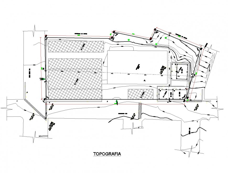 Topography school planning layout file