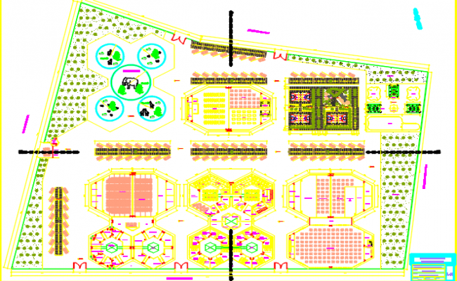 tourism creation center dwg file