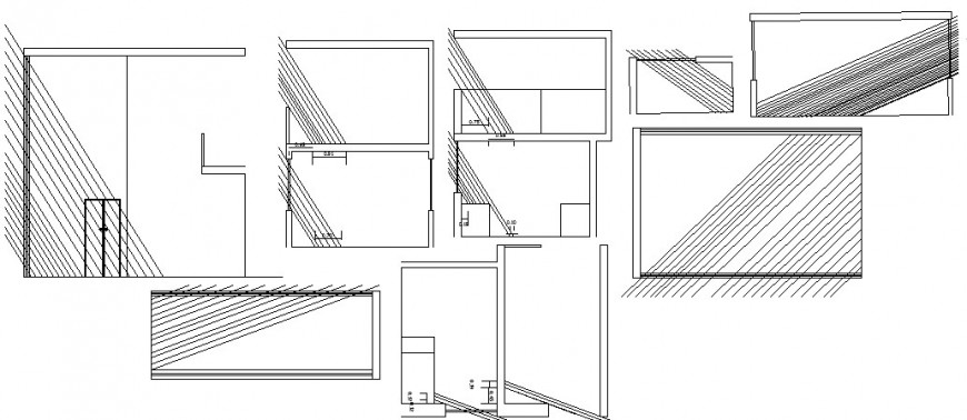 Tourist restaurant elevation and auto-cad drawing details dwg file