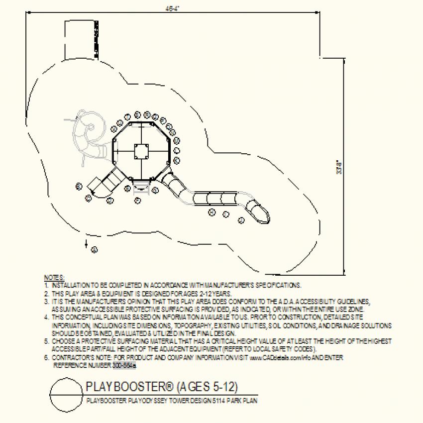 Tower design park plan layout file