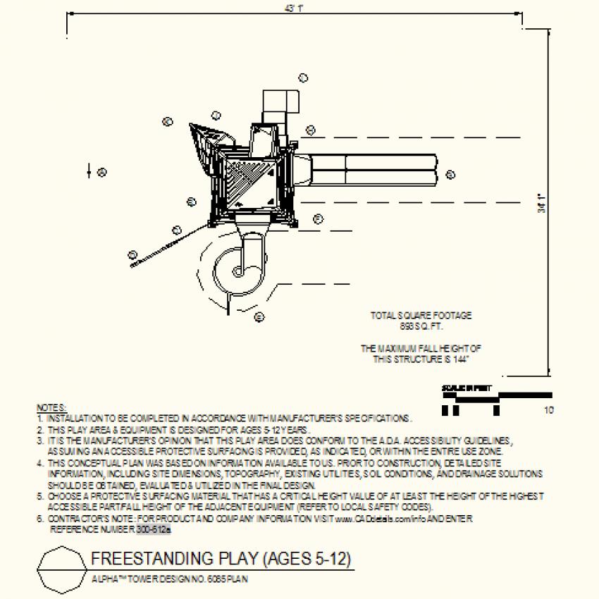 Tower design plan autocad file