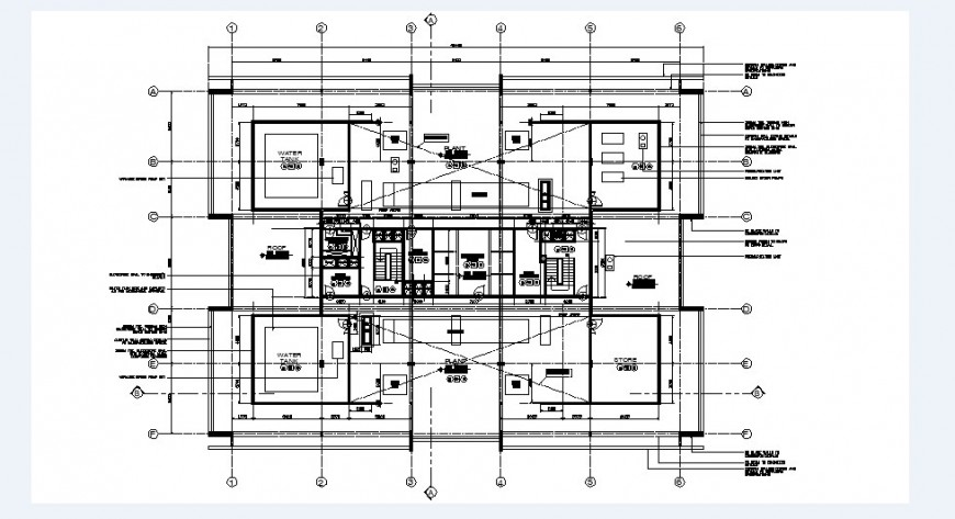 Tower plant electrical installation and plumbing details dwg file