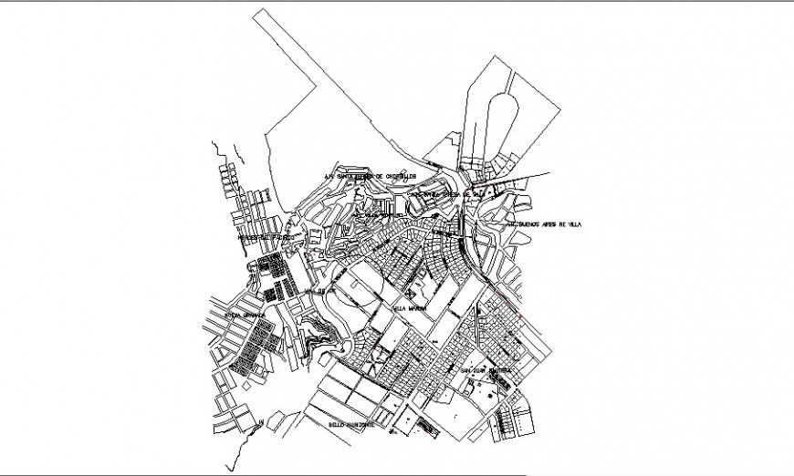 Town planning map layout plan in AutoCAD file.