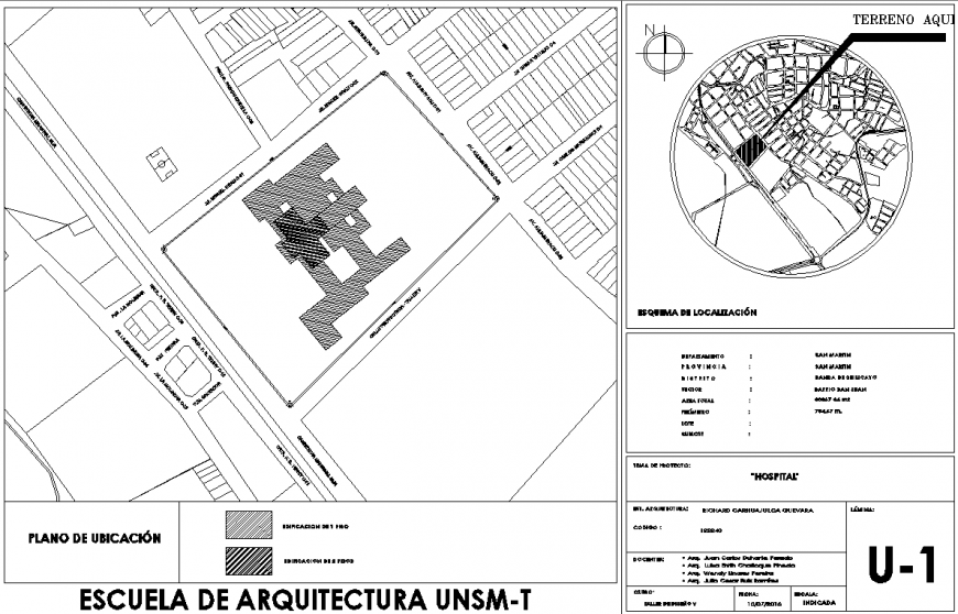 Town planning map with building in dwg file.