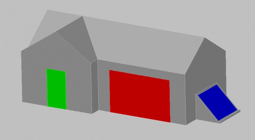 Toy house 3d drawing in dwg file.