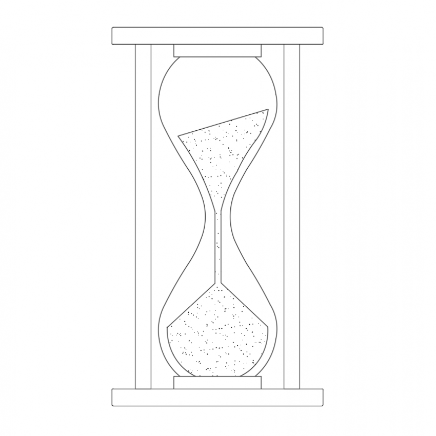Traditional egg timer view dwg file